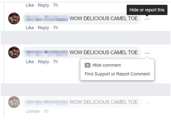 Waarom worden reacties verborgen op Facebook