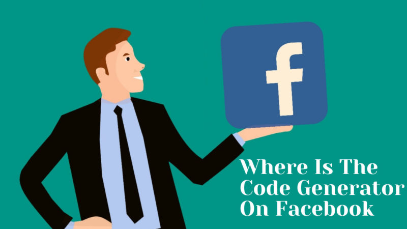 where is the code generator on Facebook