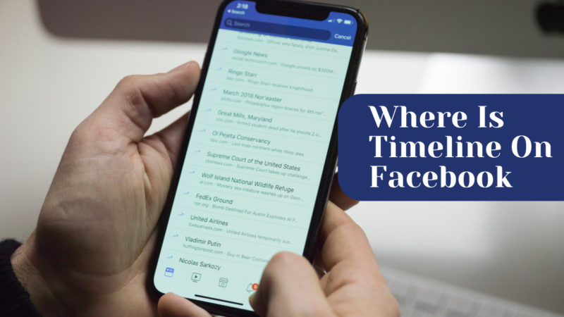 where is timeline on Facebook'