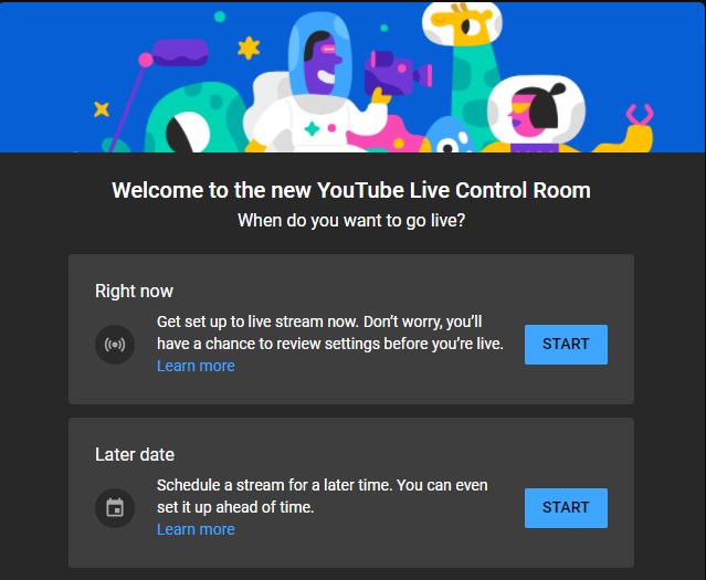 Livestream op YouTube