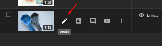 Go to the video you want to trim by clicking on its thumbnail